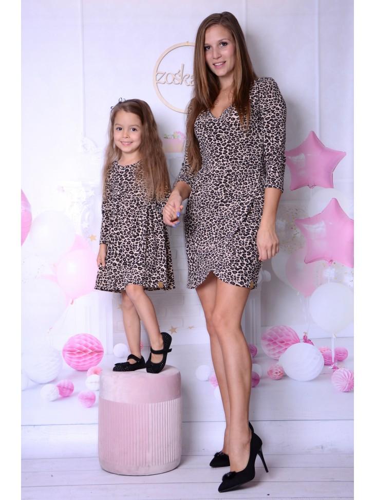 Panterkowe sukienki dla mamy i córki