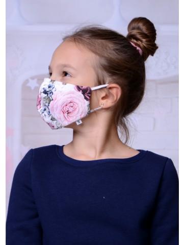 Maseczka bawełniana dla dziewczynki