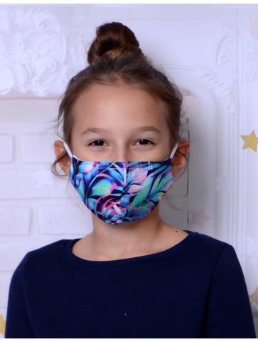 Maseczka bawełniana dla dziewczynki tropik