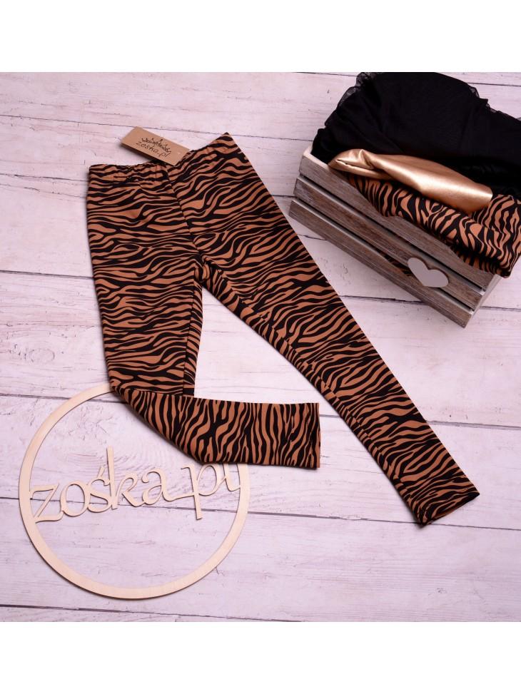 Legginsy dla dziewczynki zebra