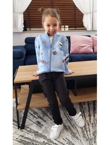 Bluza bomber jeans dla dziewczynki