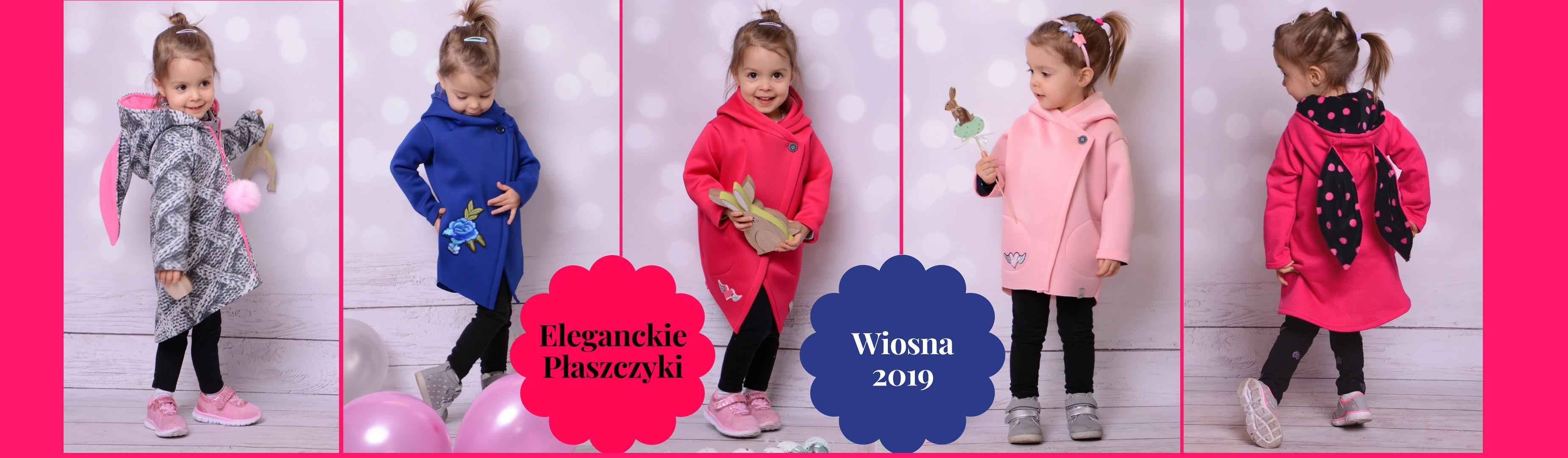 Wiosenne płaszcze płaszczyki dla dziewczynek